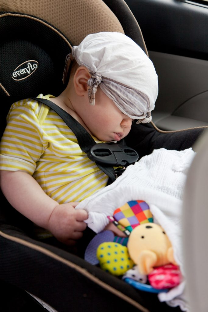baby sleep covered eyes