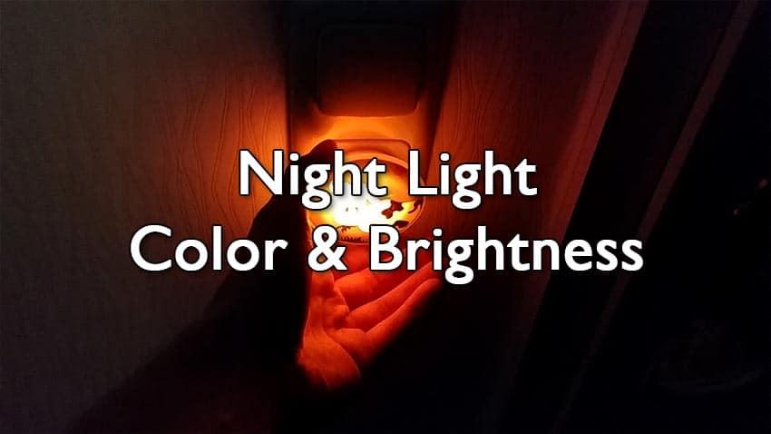 night light color brightness