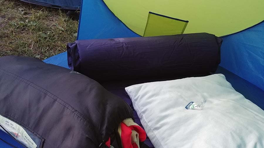 pillow for sleeping in a tent