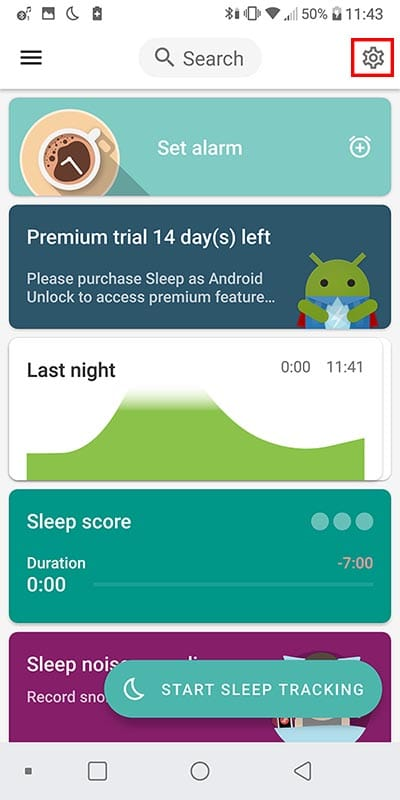 sleep talk recording app - tutorial step 1