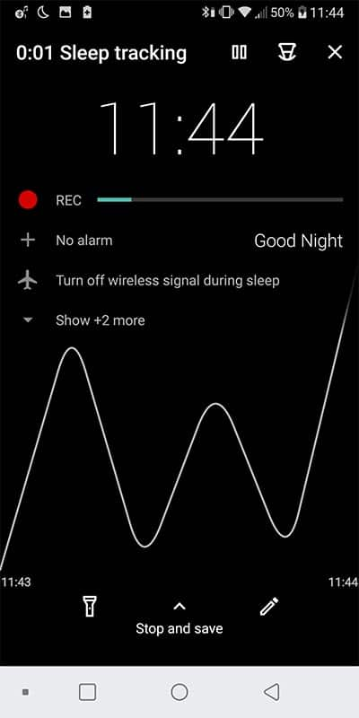 sleep talk recording app - tutorial step 4