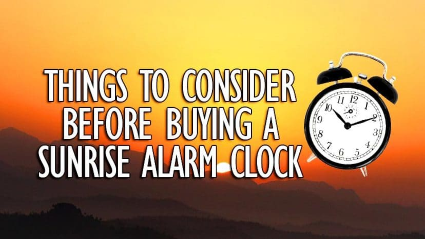 things to consider before buying a sunrise alarm clock