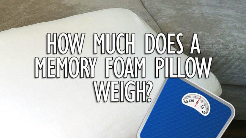 how much does a memory foam pillow weigh title
