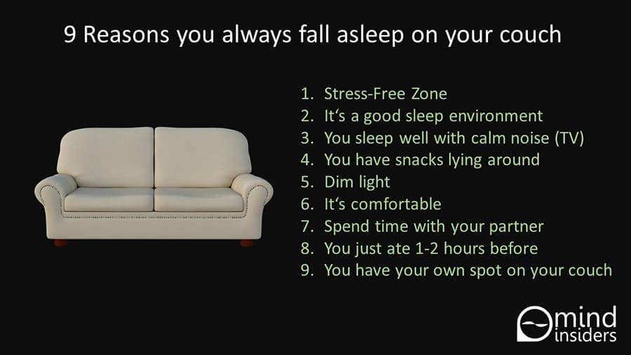 why you fall asleep better on your couch than in your bed
